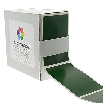 amazon com 2 x 3 forest green color code square sticker labels