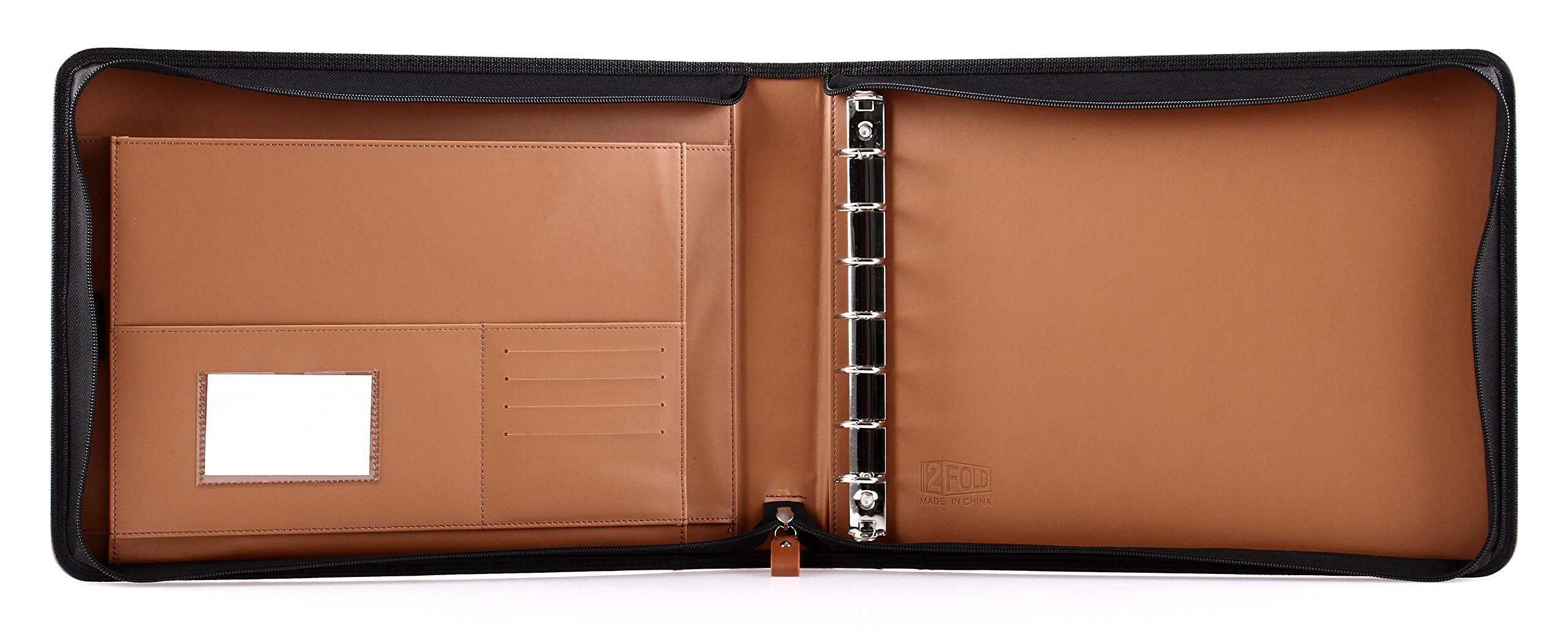 Business Checkbook Covers : Business check ring binder for up checks pu leather