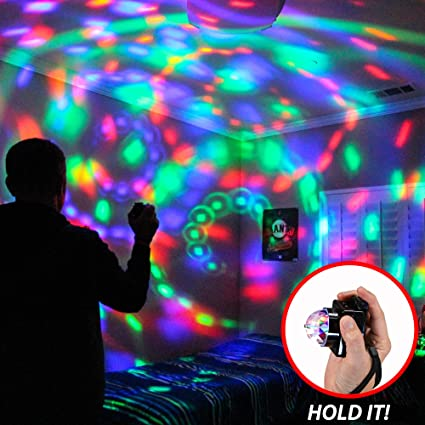 Electronic Revolving Disco Ball Light Indoor Outdoor Party Lighting Accessory