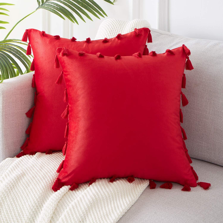 40x40 Throw Pillow Tassel pillow Case Tassel Pillow Cover 40x40 Sofa Pillows 40x40 Pillow Cases Tassel Cushion Covers
