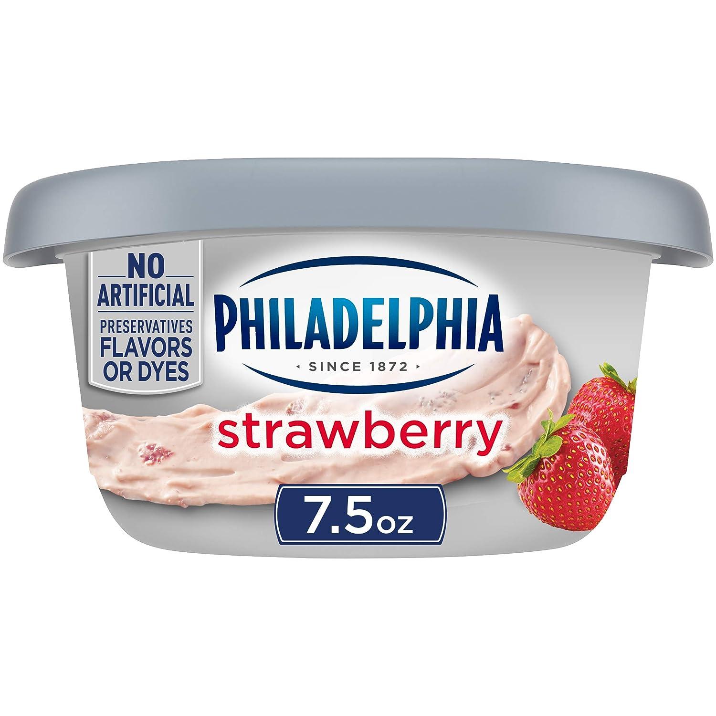 Philadelphia Strawberry Cream Cheese Spread (7.5 oz Tub)