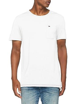 bcadd55dd816d Tommy Jeans Hombre Essential Garment Dye Camisa Manga Corta  Amazon.es  Ropa  y accesorios