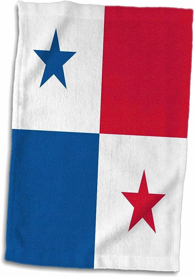 3dRose Bandera de Panamá, América Central, Panamá Rojo Blanco Cuadrados Estrellas Azules, Country World Toalla Multicolor, 15 x 22 Pulgadas: Amazon.es: Hogar