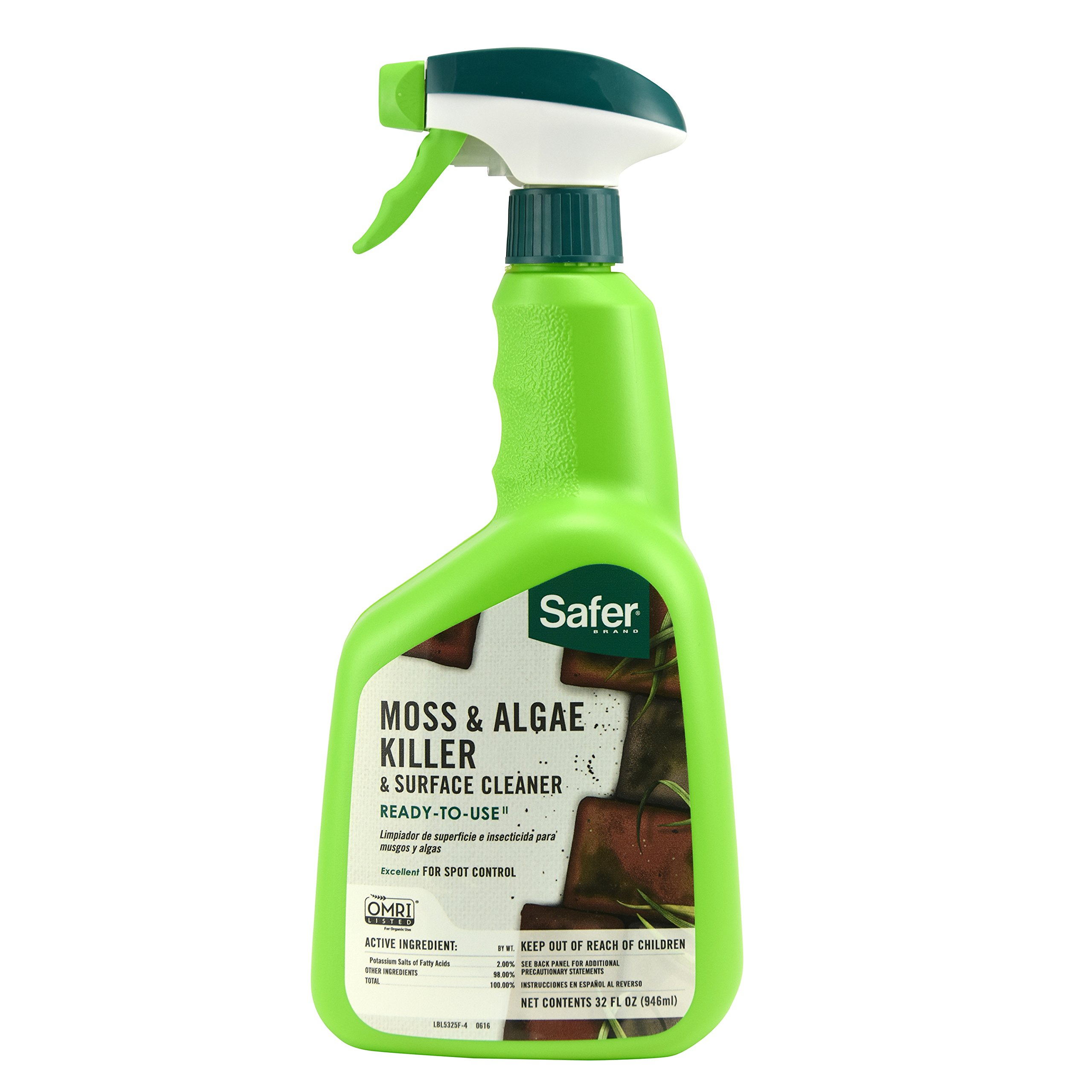 Safer Brand Moss and Algae Killer and Surface Cleaner Ready to Use 32Ounces 5325
