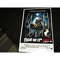 WARRINGTON GILLETTE Signed Friday the 13th Part 2 11x17 Movie Poster Autograph B