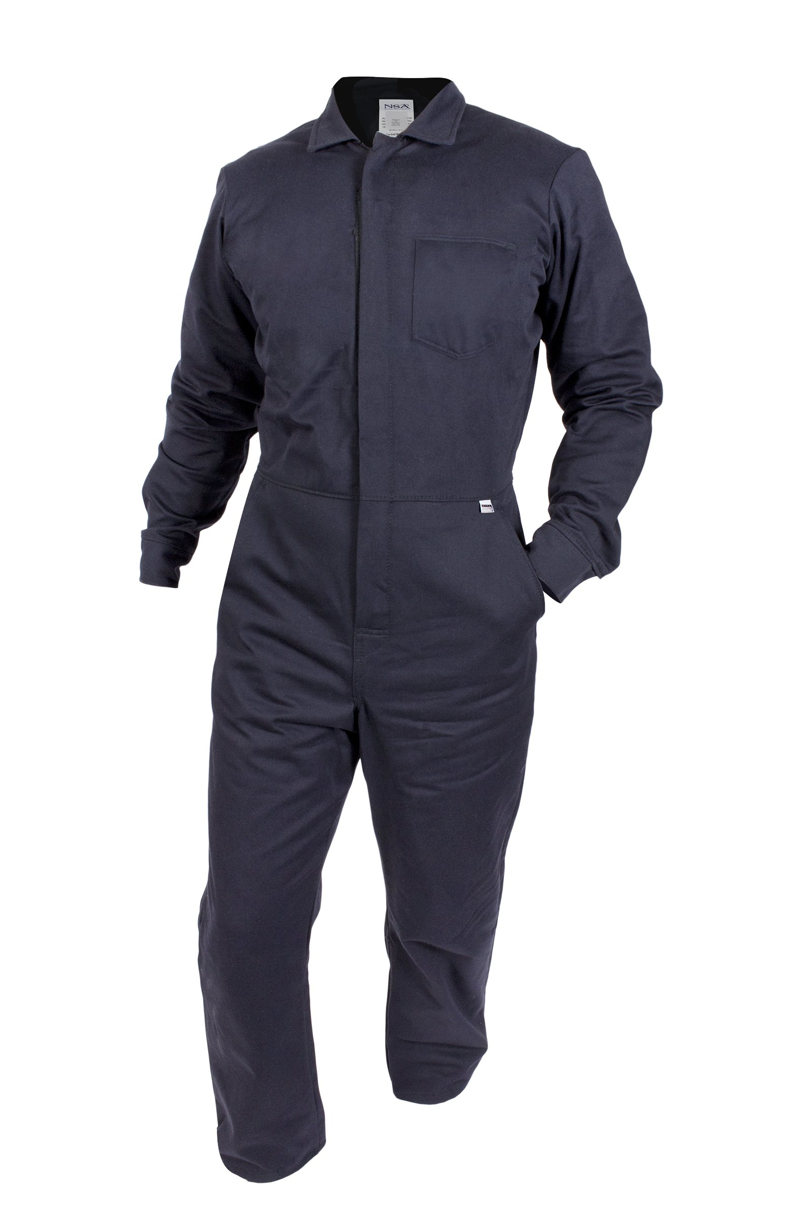 National Safety Apparel C88EJCZ2X32 ArcGuard FR UltraSoft Contractor Coverall, XX-Large, Navy