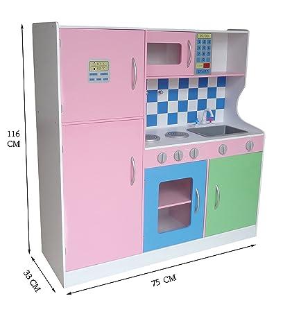 Kiddi Style Cocina Madera Infantil   Cocina Juguete Niños Extra Grande  Tonos Pastel: Amazon.es: Juguetes Y Juegos