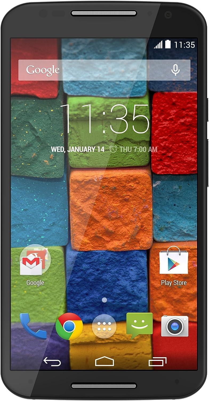 Motorola Moto X (2nd generation) XT1097 GSM Unlocked Cellphone, 16GB, Black Soft Touch