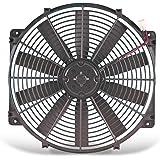 """Flex-a-lite 118 Black 16"""" LoBoy Electric Fan (puller)"""