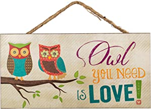 P. Graham Dunn Owl You Need is Love! Two Owls on Branch Decorative Hanging Sign - Made in USA