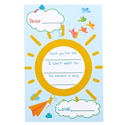amazon com kids thank you postcards cute colorful thank you notes