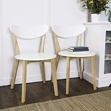 WE Furniture Retro Modern Dining Chairs   Set Of 2