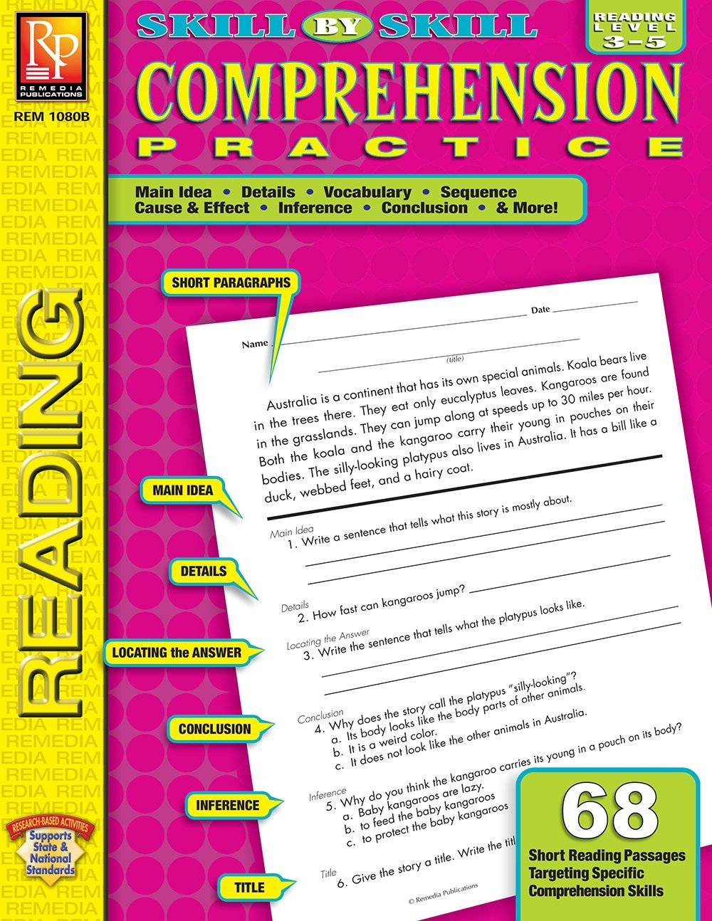 - Skill-By-Skill Comprehension Practice (Reading Level 3-5