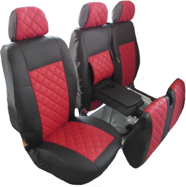 11 on HEAVY Duty GREY Trim VAN Seat COVERS Single Fiat Ducato Double