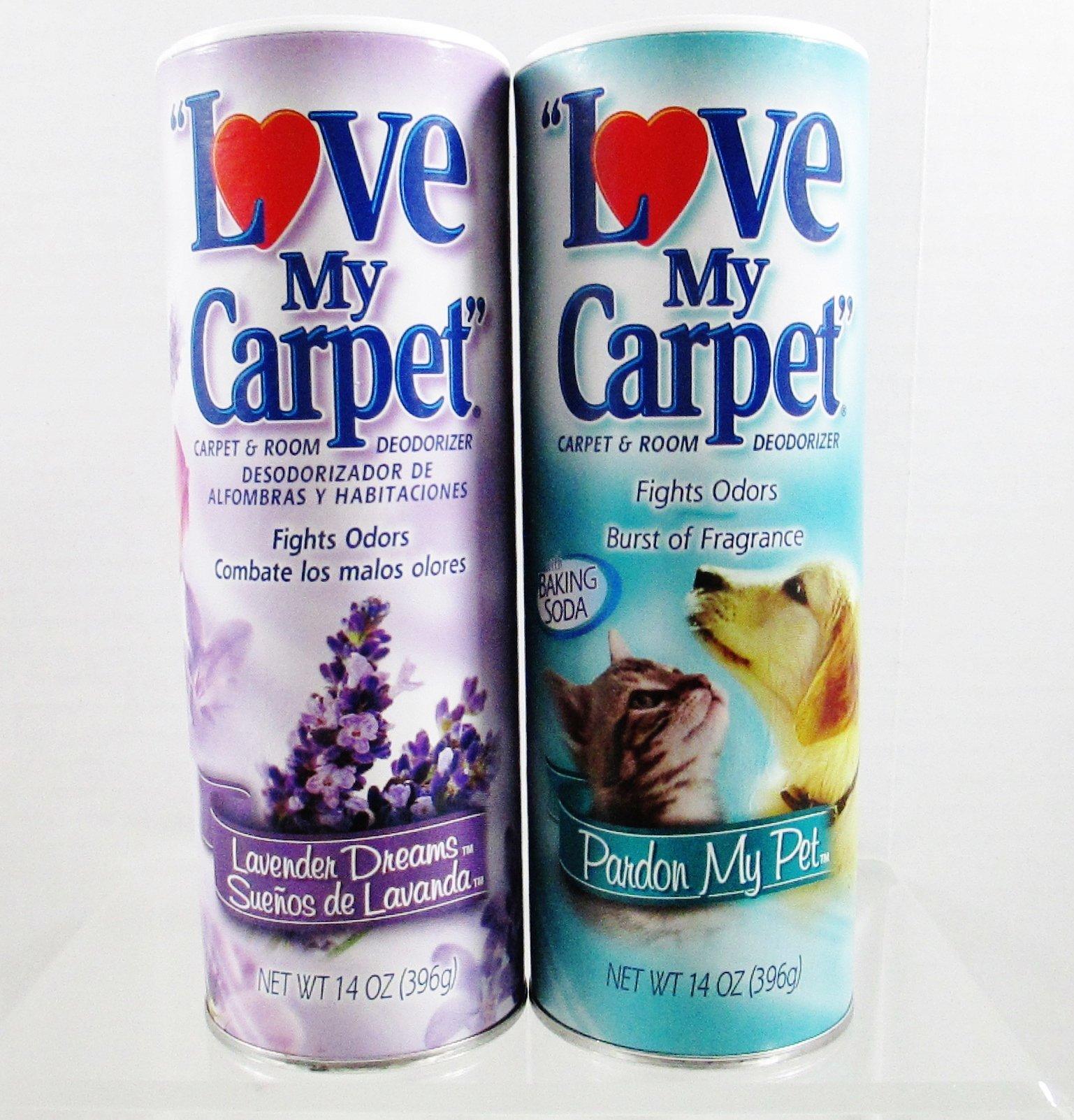 Love My Carpet Carpet & Room Deodorizer - 2 Pack - Lavender Dreams & Pardon My Pet