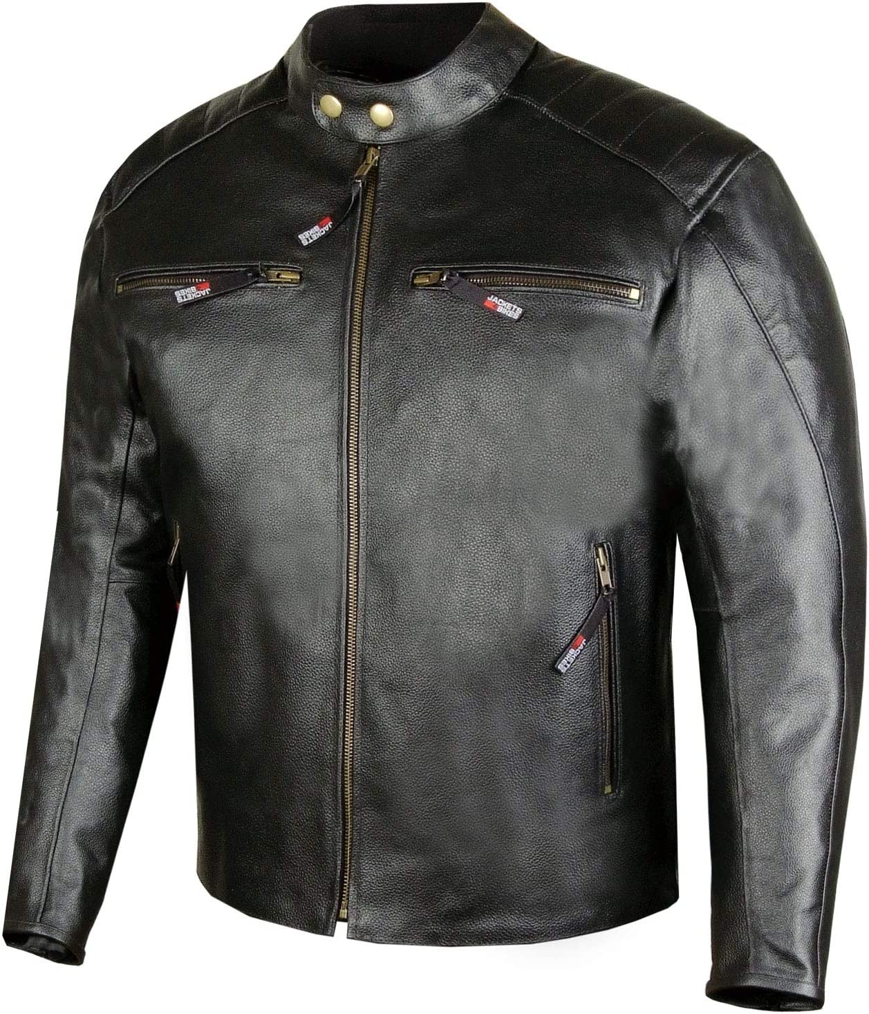 Men Defender Premium Leather Motorcycle Street Cruiser Biker CE Armor Jacket L