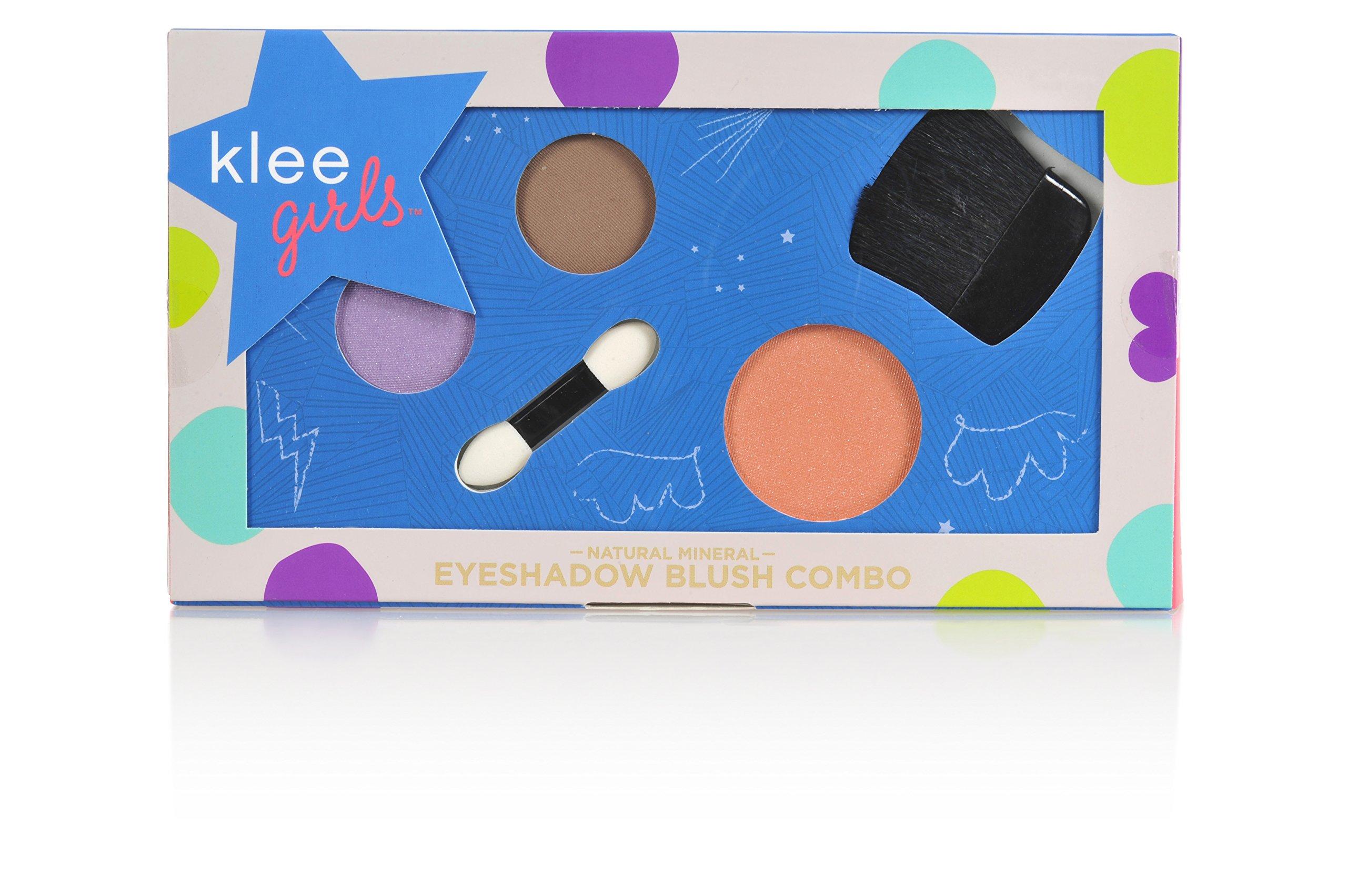 Luna Star Naturals Klee Girls Makeup Combo, Park Slope Gallop Purple/Brown Shadow/Peach Blush, 3 Ounce