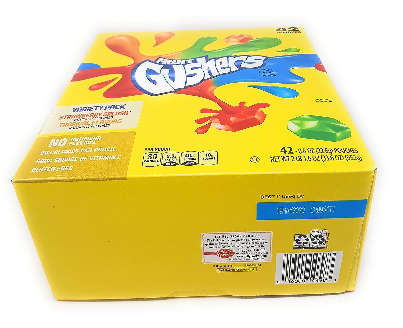 Betty Crocker Fruit Gushers, 42 unidades, bolsas de 0.8 ...