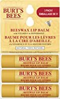 Burt's Bees 100% Natural Moisturizing Lip Balm, Original Beeswax with Vitamin E & Peppermint Oil - 3 Tubes