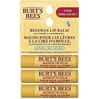 Burt's Bees 100% Natural Moisturizing Lip Balm, Original Beeswax with Vitamin E & Peppermint Oil - 3 Tubes