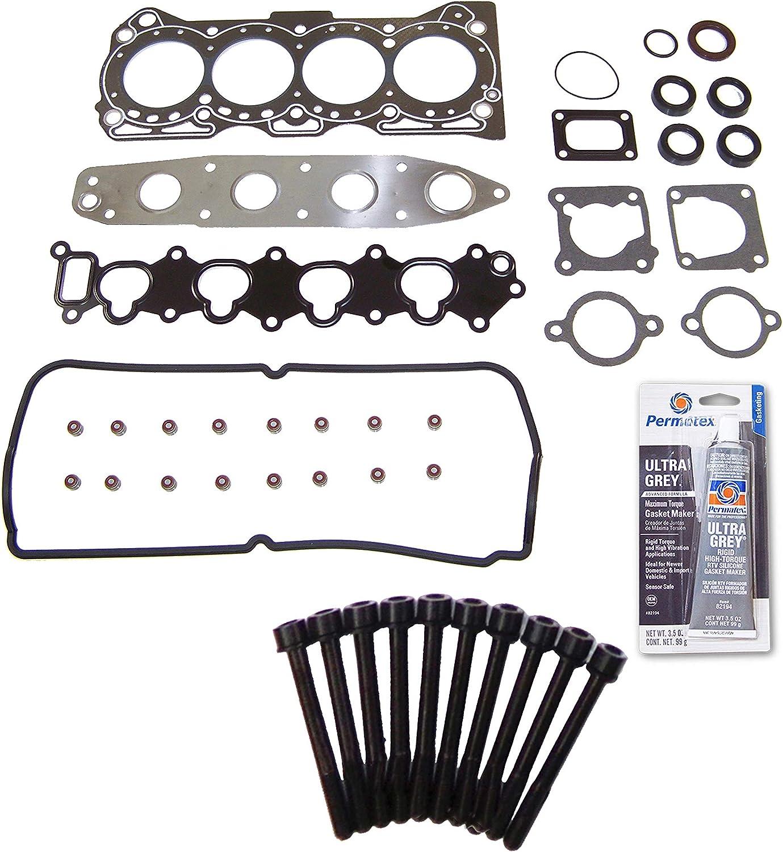 Head Gasket Set Bolt Kit Fits: 92-01 Suzuki Vitara Geo Tracker 1.6L SOHC G16B G16KV