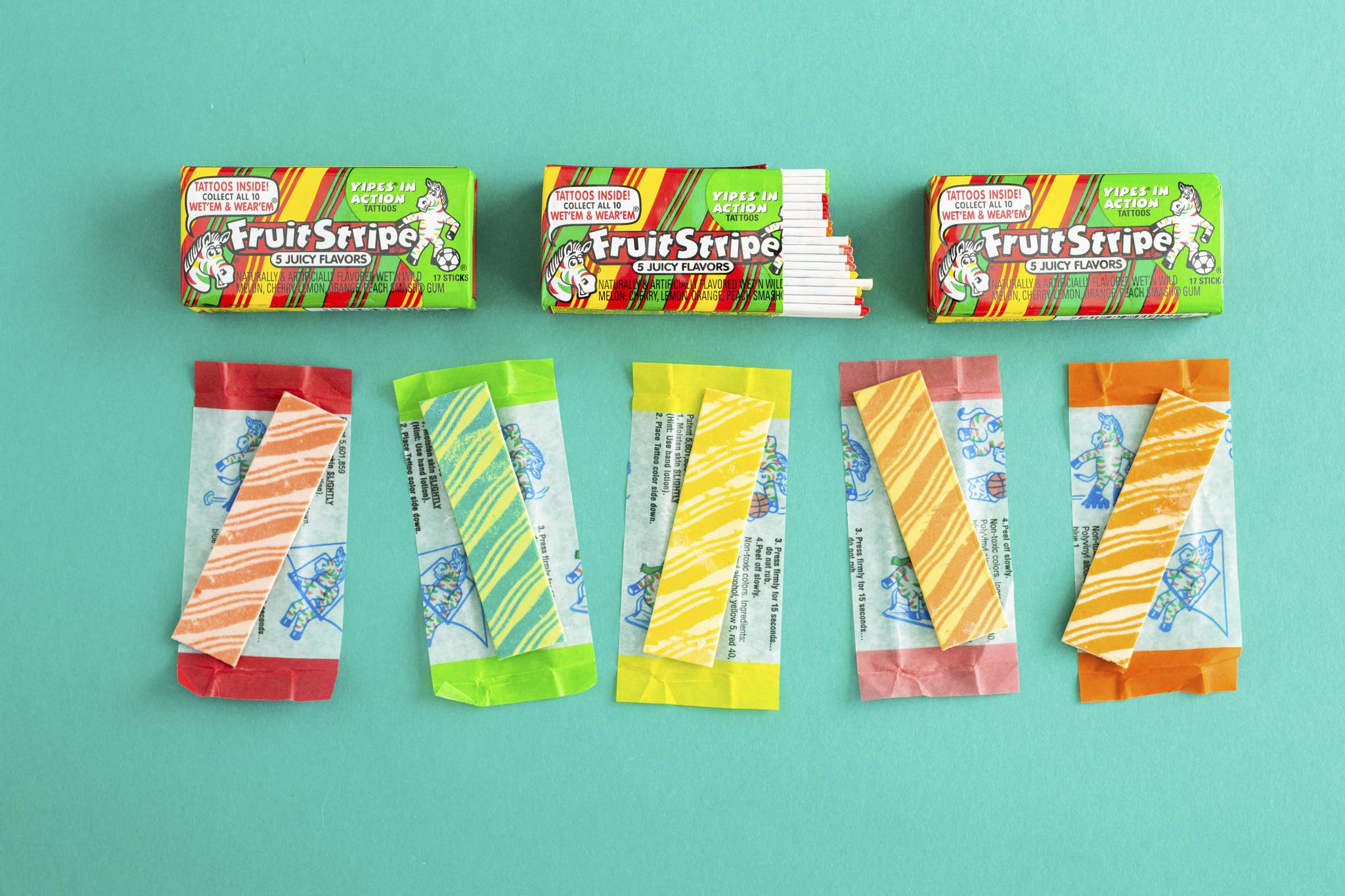 Fruit Stripe Bubble Gum, 1.8 Ounce Pack, 12 Count by Farley's (Image #7)