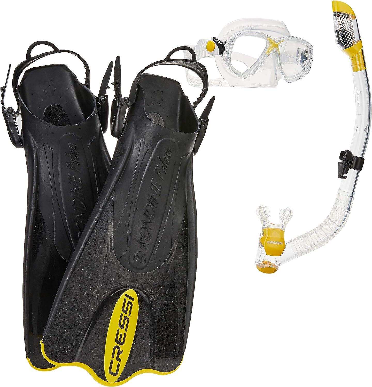 3. Cressi Palau Mask Fin Set Snorkel Gear