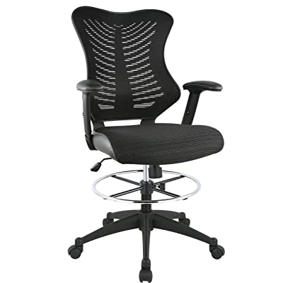 Poly and Bark Correna Drafting Chair in Mesh
