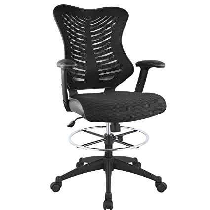 amazon com poly and bark correna drafting chair in mesh black