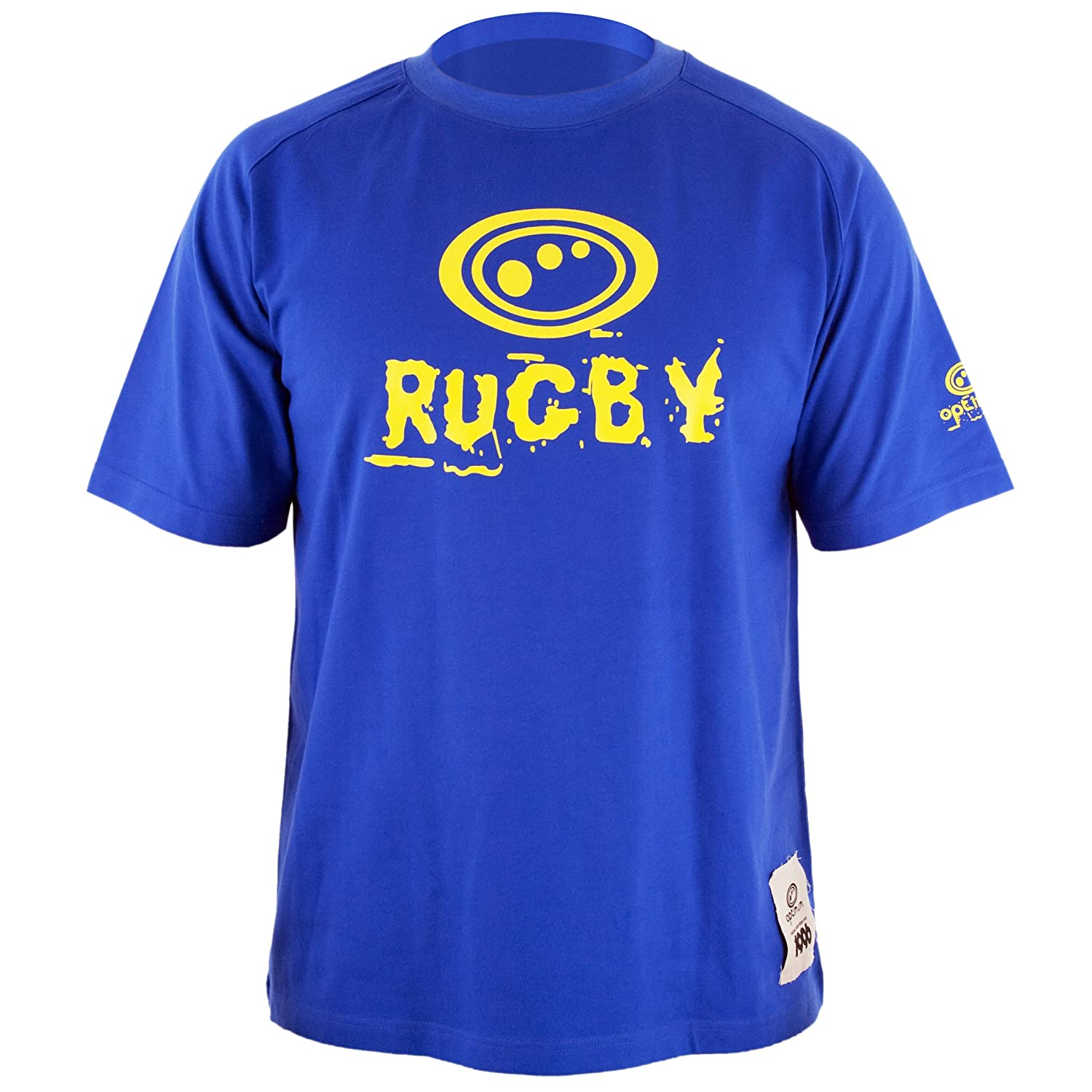 Optimum Boy's Rugby - Camiseta de rugby para niño tamaño Mini color azul/amarillo ORTRYMINI
