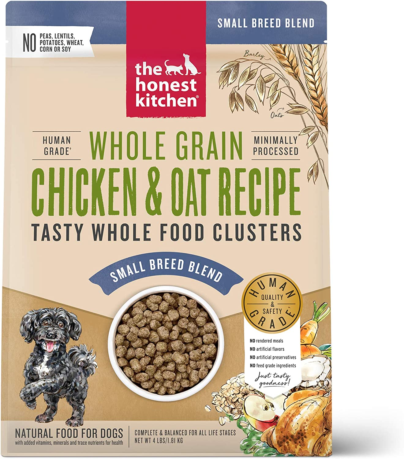 The Honest Kitchen Whole Food Clusters Human Grade Dry Dog Food for Small Breeds
