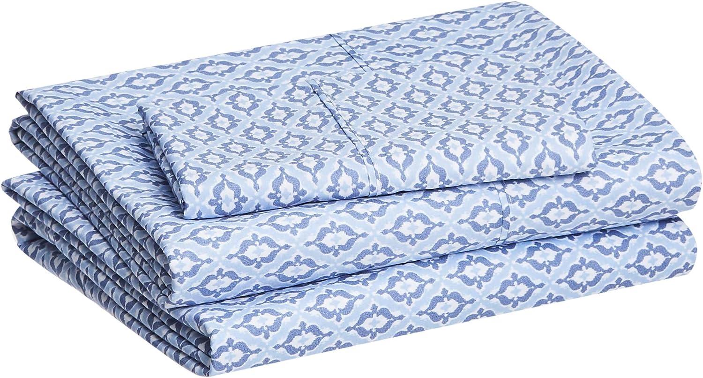 Amazon Basics Lightweight Blue Bed Sheet