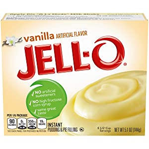 Jell-O Vanilla Instant Pudding Mix 5.1 Ounce Box (Pack of 6)