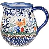 Classic Boleslawiec Pottery Hand Painted Ceramic Milk, Cream Jug 250ml 514-U-099
