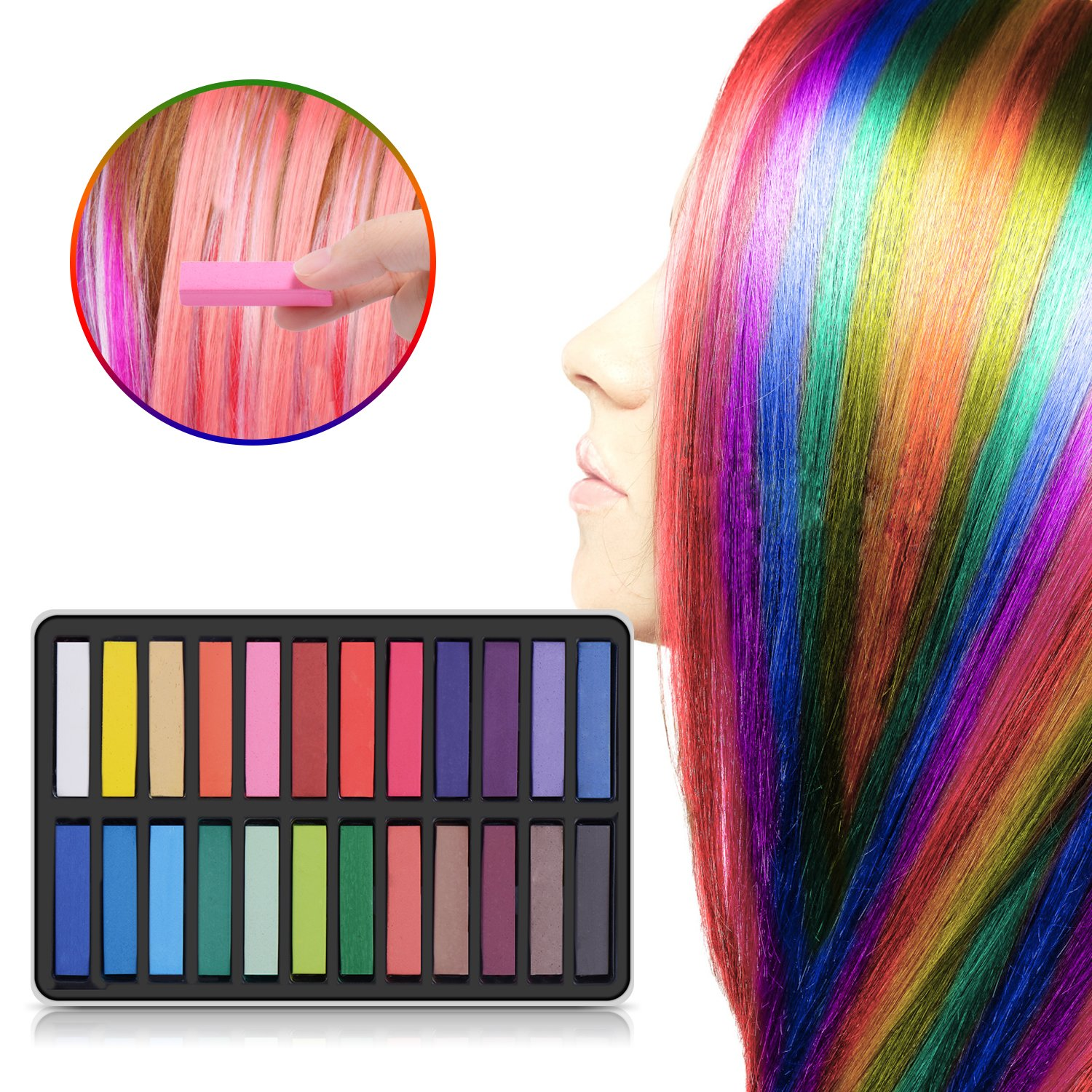 Amazon Maydear Temporary Hair Chalk Comb Non Toxic Washable