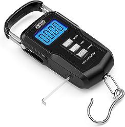 Dr.meter [Upgraded] FS01 Fishing Scale, 110lb/50kg Digital Hanging Scale