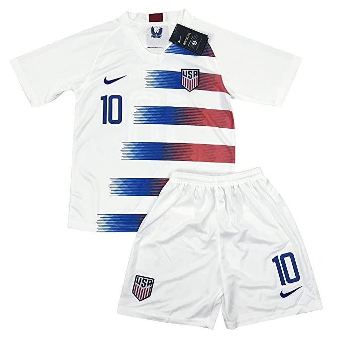 5a082984c88 Amazon.com: New 2018-2019 Carli Lloyd #10 USA National Team Home Soccer  Jersey & Shorts for Kids/Youths: Clothing