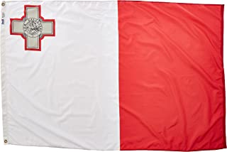 product image for Annin Flagmakers Model 195496 Malta Flag Nylon SolarGuard NYL-Glo, 4x6 ft, 100% Made in USA to Official United Nations Design Specifications