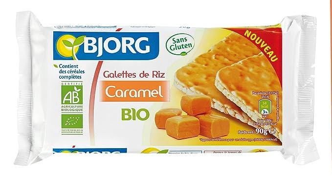 Bjorg Tortitas de Arroz Integral con Caramelo - Paquete de 12 x 90 gr - Total