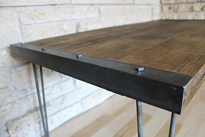 Amazon Com Industrial Rustic Reclaimed Wood Coffee Table On Hairpin