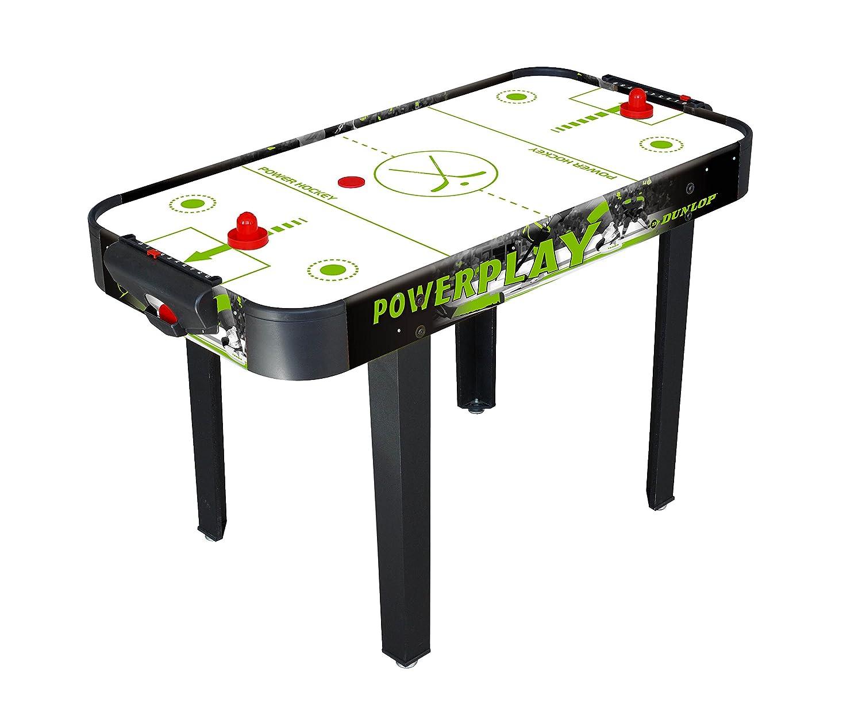 Hockey da Tavolo con Gambe 122x61x77cm in MDF Gioco Manopole Dischi Dunlop 22677