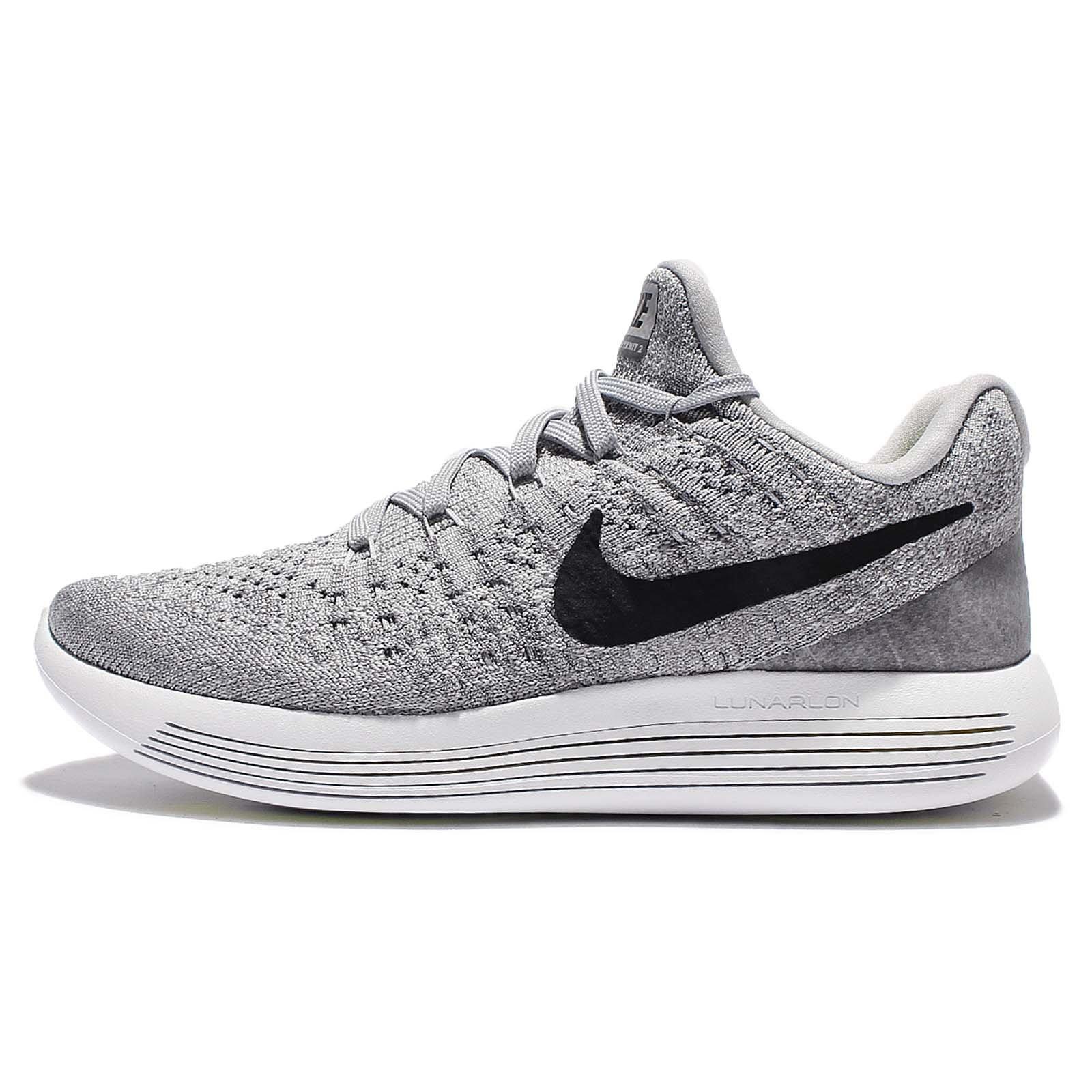 Nike Women Lunarepic Low Flyknit 2 Running (wolf grey / black-cool grey-pure platinum) Size 5.0 US