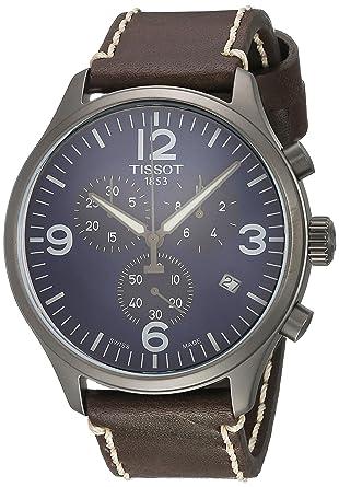 438739a3d7c Amazon.com: Tissot Men's Chrono XL - T1166173604700 Silver/Brown One Size:  Tissot: Watches