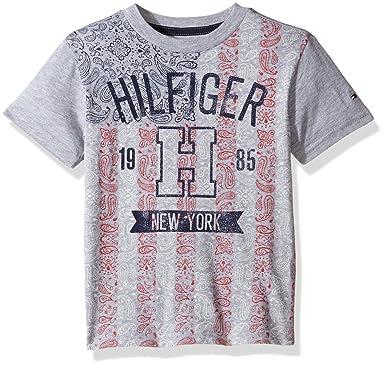 96aabd01 Tommy Hilfiger Denim Men's Big Boys' Short Sleeve Crew Neck Flag Graphic  T-Shirt
