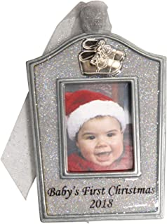 product image for Gloria Duchin Pewter Baby Arch Frame Christmas Ornament, Silver