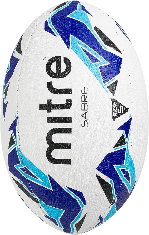 Mitre Sabre - Pelota de Rugby, Color Blanco, Talla Talla 5: Amazon ...