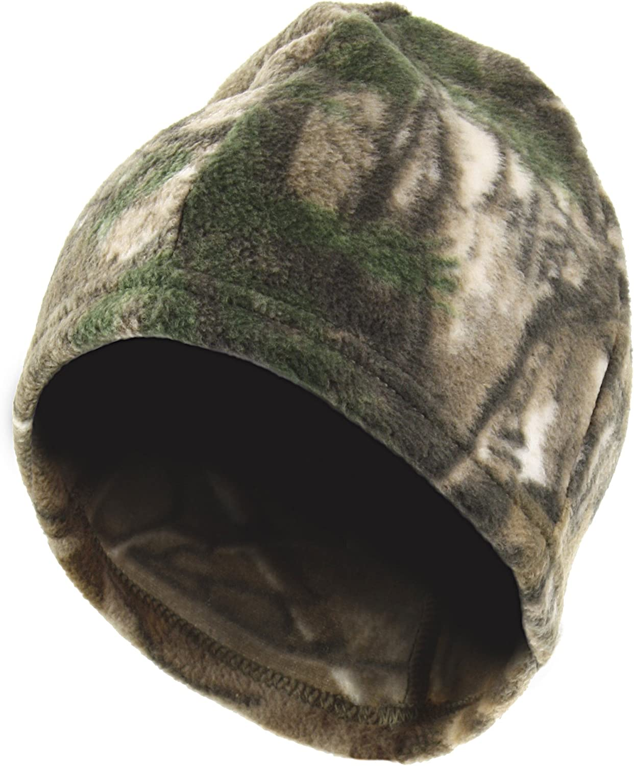 Zeek Outfitter Licensed Camouflage Reversible Fleece Beanie with Polygiene