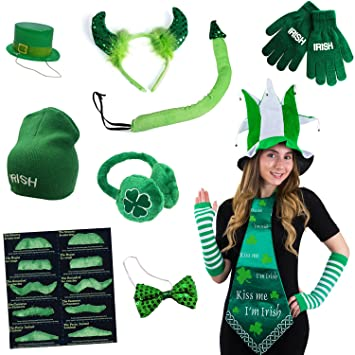 funny party hats saint patricks day accessories 6 pc set saint patricks day costume