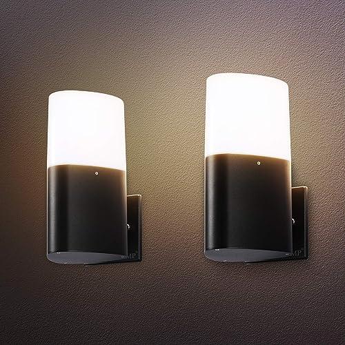 LMP 2 Packs Outdoor Wall Light LED Porch Light
