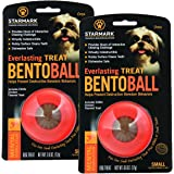 StarMark 2 Pack of Everlasting Treat Bento Balls, Small, Puzzle Toys for Dogs Under 15 Pounds